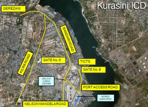Kurasini ICD location map