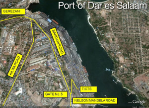 Port of Dar es Salaam location map